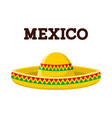 mexican sombrero colorful image vector image