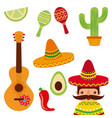 mexico concept festive culture tradition vector image