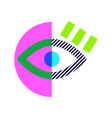 modern pop art eye tshirt print in bright colors vector image vector image