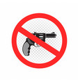 no weapons and guns sign icon vector image vector image