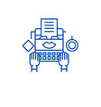online copywriting line icon concept online vector image vector image