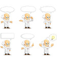 Scientist or Professor Customizable Mascot 15 vector image