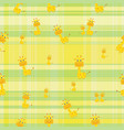seamless background cute giraffe on colorful vector image vector image