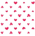 Seamless pattern with fingerprint hearts vector image vector image