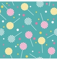 Seamless retro pattern with lollipops vector image vector image