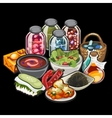 Set of home cooking and canning vegetables vector image