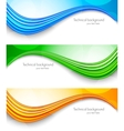 set tech banners vector image vector image