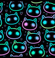 simless colorful scary cats vector image