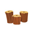 stumps of old dry trees organic wooden material vector image vector image