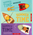 summer time banners set vector image vector image