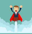 superhero super successful businessman flying in vector image vector image