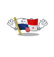 tongue out panama flag stored in character vector image vector image