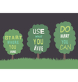 Trees with quotes vector image