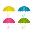 umbrella in cartoon style for design vector image vector image