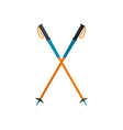 walking sticks icon flat style vector image