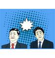 xi jinping and shinzo abe pop art flat design vector image vector image