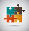 Abstract Vintage Puzzle Design vector image