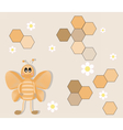 Happy Cartoon bee background vector image