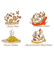 Thai foods vector image
