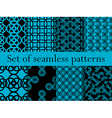 Set of seamless patterns with circles vector image