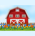 a farm house scene vector image vector image