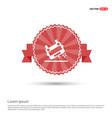 ambulance crash icon - red ribbon banner vector image vector image