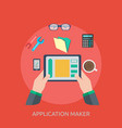 application maker conceptual design vector image vector image