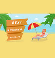 best summer holidays banner template vector image vector image