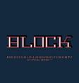 block font alphabet vector image vector image