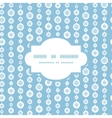 blue and white snowflakes stripes frame seamless vector image