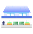blue house cartoon vector image vector image