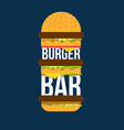 burger bar print design for cafe vector image vector image
