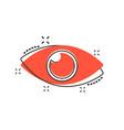 cartoon eye icon in comic style eyeball look sign vector image vector image