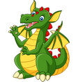 cartoon happy dragon isolated on white background vector image vector image