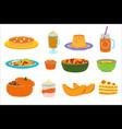 cartoon pumpkin food dessert vector image vector image
