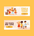 children with pets friendship banner vector image