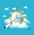 chronometer timer with businesswomen vector image vector image