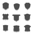 collection of blank shields templstes vector image vector image