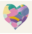 Colorful Watercolor Heart Shape from Brushes vector image