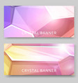 crystal background set banners vector image