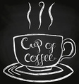 Cup Of Coffee Chalk Lettering vector image vector image