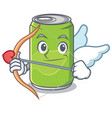 cupid soft drink character cartoon vector image