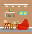 design interior table and chair tablewear vector image vector image