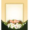 Easter frame border vector image vector image