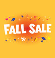 fall sale banner poster vector image vector image