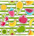 fresh summer juicy fruit painted seamless pattern vector image vector image