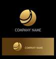 gold sphere arrow business logo vector image