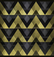 gold zigzag seamless pattern vector image