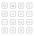 gray line web icon set rounded rectangle frame vector image vector image