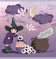 halloween party halloween color vector image vector image